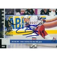 Christian Dube Autographed Hockey Card New York Rangers 1997 Upper