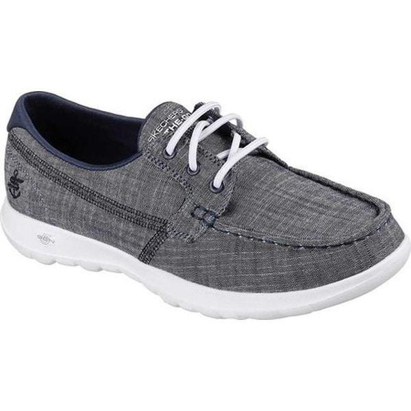 20a3364105818 Shop Skechers Women's GOwalk Lite Isla Boat Shoe Navy - On Sale ...
