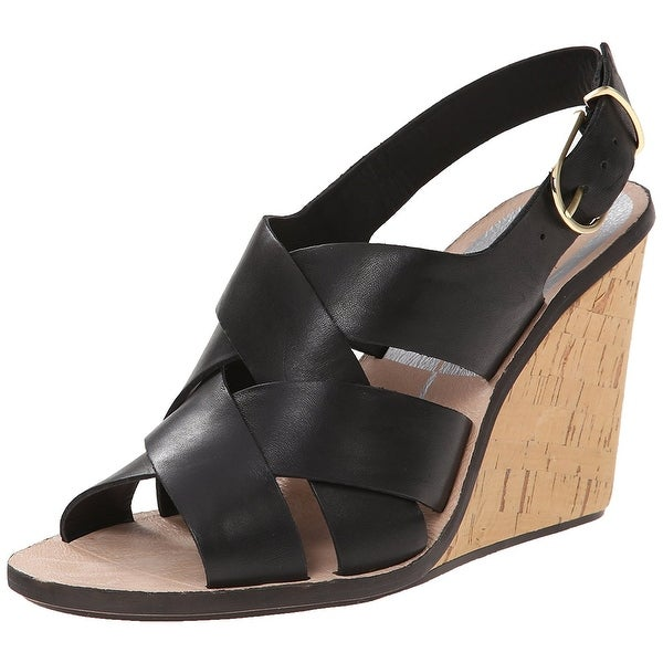 Dolce Vita NEW Black Women's Shoes Size 8M Remie Wedge Sandal