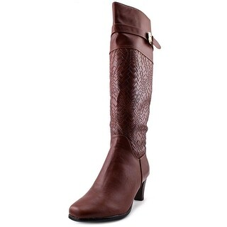 Annie Shoes Veronica Women WW Round Toe Leather Over the Knee Boot
