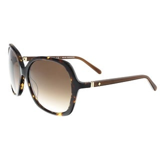 Kate Spade - Jonell/S 0RRW Havana Square Sunglasses - 58-15-125