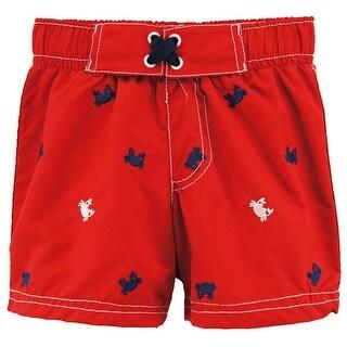 Wippette Toddler Boys Cute Crabby Swim Trunk Rashguard Board Short