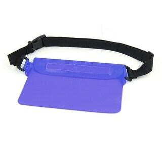 21.8cm Length Super Seal Waterproof Purple Bag w Belt Loop for Digital Carmera