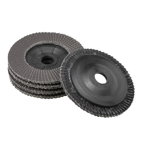 4 Inch Flap Discs 72 Page Grinding Wheels for Angle Grinders 320 Grits 5 Pcs - 320 Grits - Pack of 5