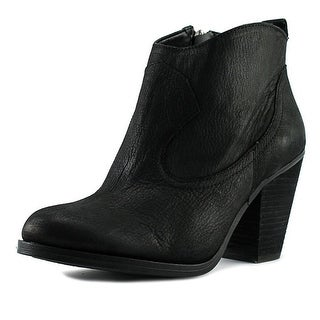 Vince Camuto Hartin Women Round Toe Leather Black Bootie