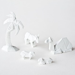 Christmas Decoration - Origami Nativity Additional Figures - Porcelain
