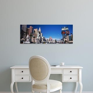 Easy Art Prints Panoramic Images's 'Buildings in a city, The Strip, Las Vegas, Nevada, USA' Premium Canvas Art