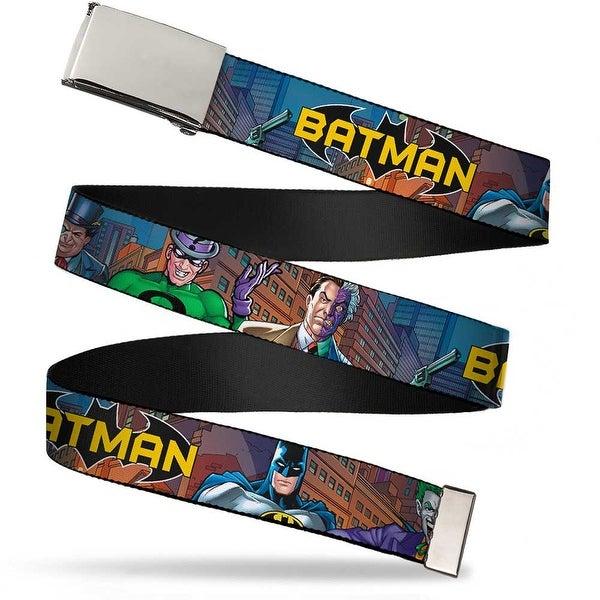 Blank Chrome Bo Buckle Batman & Villains2 Cityscape Webbing Web Belt
