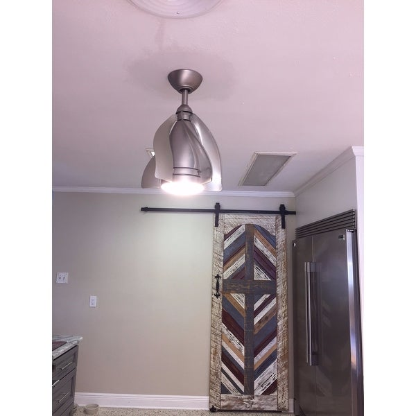 Kichler Lighting Terna Collection 15 Inch Brushed Nickel Ceiling Fan W Led Light Silver Free Today Com 11895878