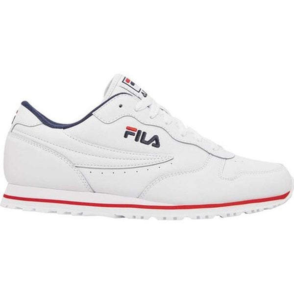 fdce0216bd14 Shop Fila Men s Euro Jogger II Running Sneaker Black Fila Red White - Free  Shipping Today - Overstock - 20561491