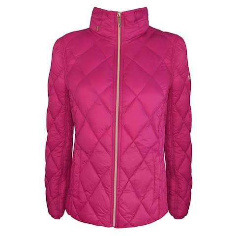 Michael Michael Kors Womens Bright Pink Packable with Hidden Hood