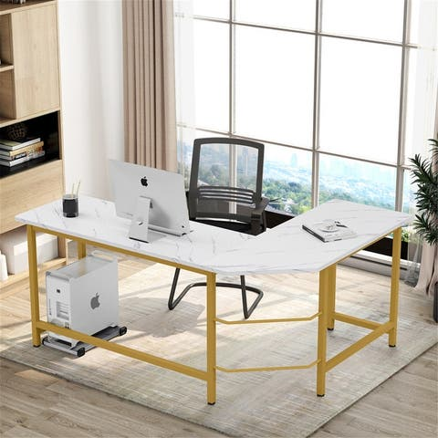 L-Shaped Desk Corner Computer DeskWorkstation Home Office