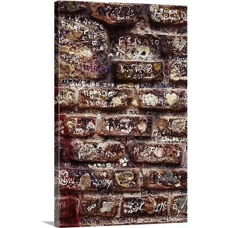 Premium Thick-Wrap Canvas entitled Close-up of graffiti on a brick wall in Verona, Italy (4 options available)