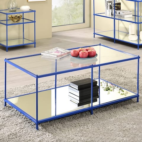 Furniture of America Scoles Transitional Lower Shelf Coffee Table