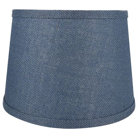 """French Drum Burlap Lampshade, 12"""" to 16"""" Bottom Size"""