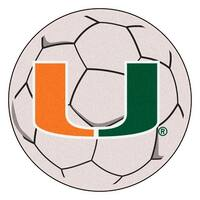 University of Miami Soccer Ball Rug