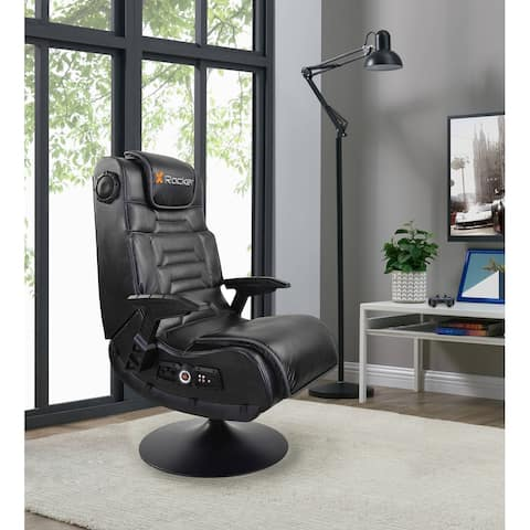 X Rocker Pro Series Pedestal 2.1 Black and Grey Gaming Chair