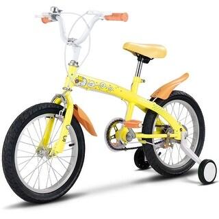 Goplus 12'' Kids Bicycle Bike Outdoor Sports With Training Wheels Bell Boys Girls Yellow