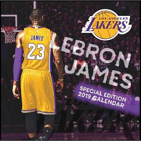 huge discount 86e4a 33e45 Los Angeles Lakers Lebron James 2019 Calendar