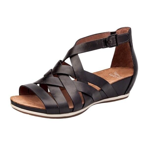 Dansko Shoes Womens Verona Vivian Open Toe Leather Graphite