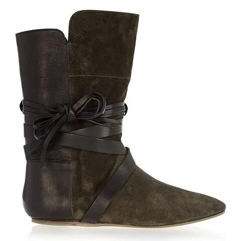 Isabel Marant Nira Olive Green Boots 36