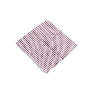 Brunello Cucinelli Men's Red Checkered Cotton Pocket Square