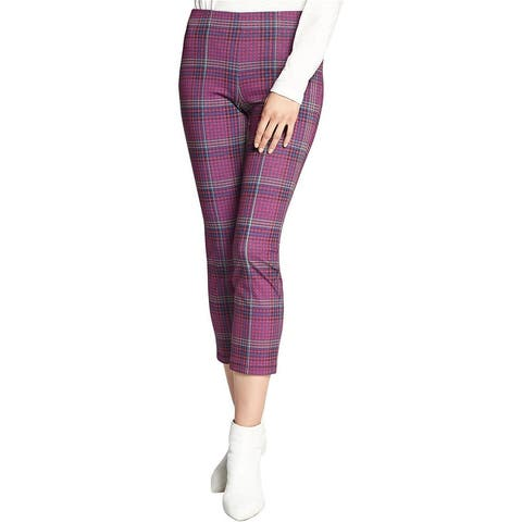 Sanctuary Clothing Womens Mod Plaid Casual Cropped Pants