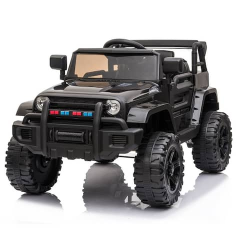 12V Electric Kids Ride On Car Jeep with Remote Control 3 Speeds, MP3 player, LED lights
