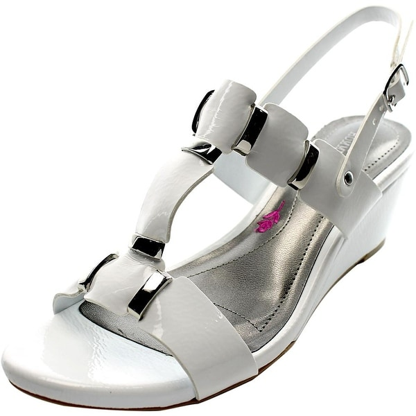 Ros Hommerson Willow Women Open-Toe Patent Leather Slingback Heel