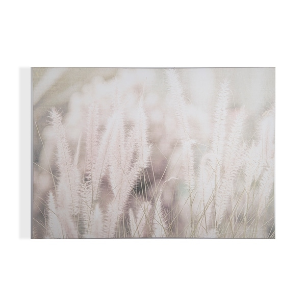 """Graham and Brown 104566 Tranquil Fields 28"""" x 39"""" Frameless Botanical Painting on Stretched Canvas - Neutral"""