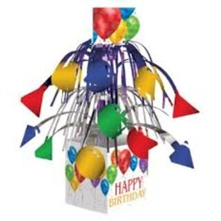 "Pack of 6 Balloon Blast Mini Multicolor Birthday Party Cascading Foil Centerpiece 14"" - Multi"