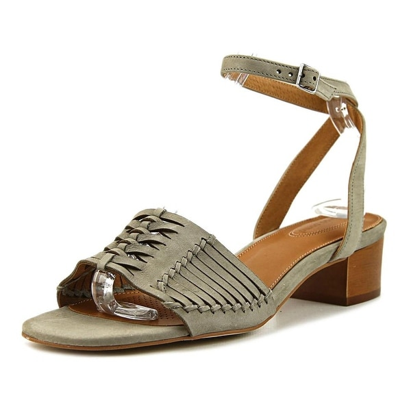 Corso Como Bahamas Women Open-Toe Leather Gray Slingback Sandal