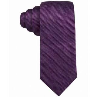 Tasso Elba Berry Purple Men's One Size Matera Solid Silk Neck Tie