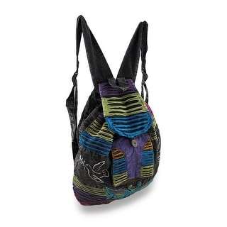 Multi-Colored Butterfly and Peace Signs Razor Cut Back Pack