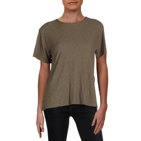 Michelle by Comune Womens T-Shirt Side Slit Short Sleeves - XS