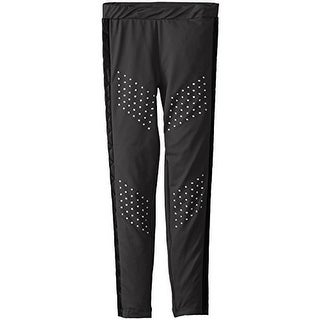 Dream Star Girls Studded Faux Leather Trim Casual Pants - L