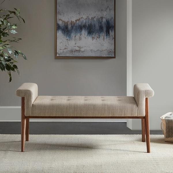 Mason Tan Accent Bench by INK+IVY. Opens flyout.