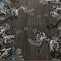 "Blue AllStar Modern. Contemporary Woven Area Rug. Drop-Stitch Weave Technique. Carved Effect. Vivid Pop Colors (5' x 6' 11"") - Thumbnail 4"