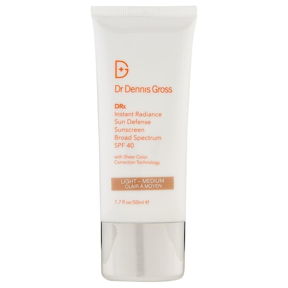 Dr. Dennis Gross Instant Radiance SPF 40 Light-Medium 1.7 oz/50 ml (White - Facial Sunscreen)