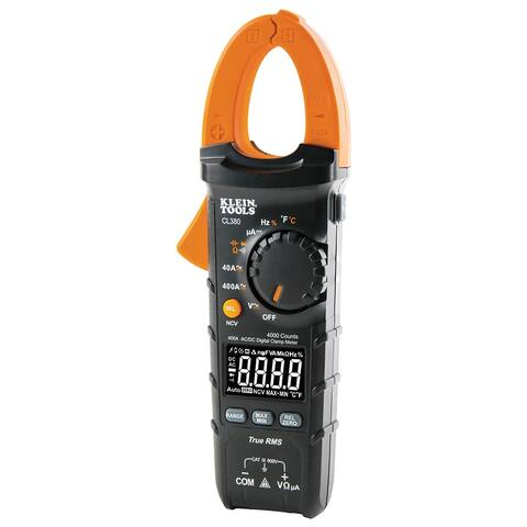Klein tools ac/dc digital clamp meter 400a auto ranging