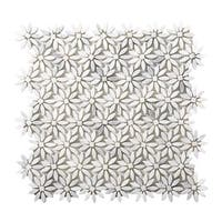 """Emser Tile M05WINT1213MDY Marble - 13"""" x 12"""" Deco Mosaic Multi-Surface Tile - Te - winter frost - N/A"""
