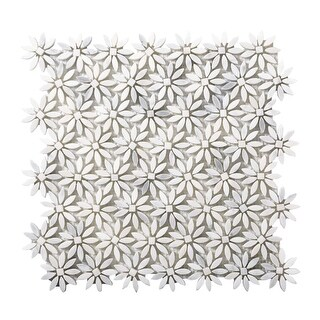"""Emser Tile M05WINT1213MDY Marble - 13"""" x 12"""" Deco Mosaic Multi-Surface Tile - Te - N/A"""