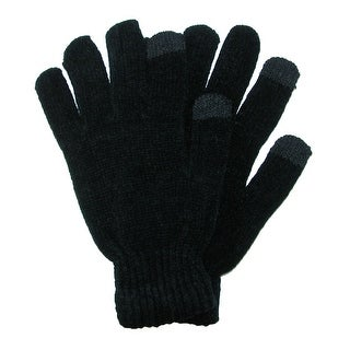 CTM® Touch Screen Chenille Glove - Black - One Size