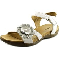 ARRAY Womens Sangria Leather Open Toe Casual Ankle Strap Sandals
