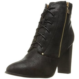 N.Y.L.A. Womens Olygmala Ankle Boots Shimmer Stacked