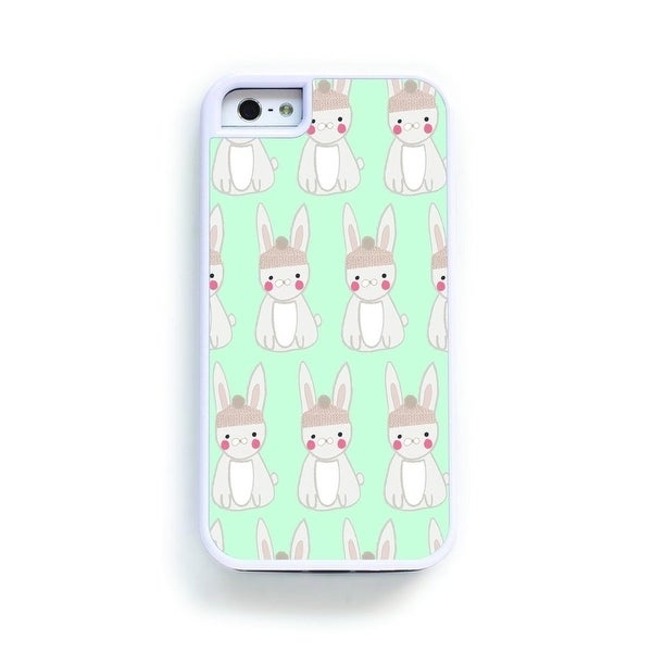 shop bunny rabbit pattern on blue for iphone 6 free shipping on