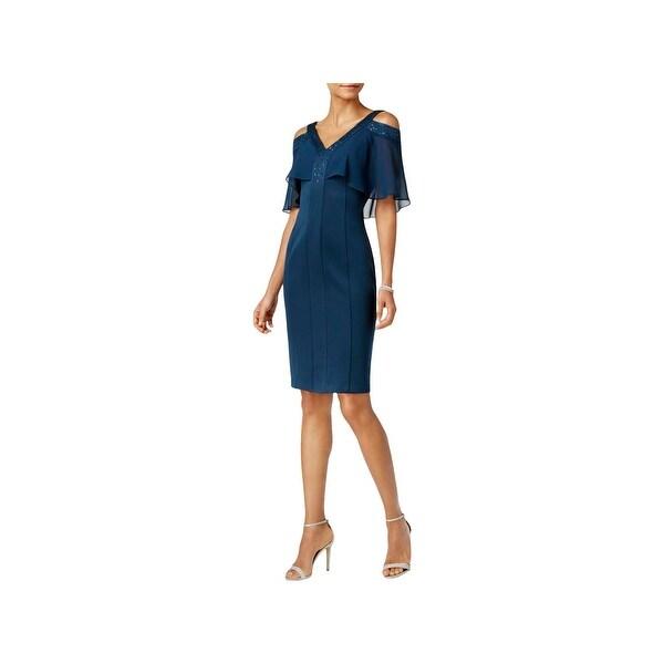 Shop Slny Womens Semi Formal Dress Cold Shoulder Knee Length Free
