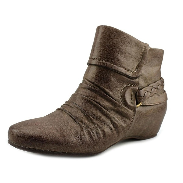 Baretraps Sana Round Toe Patent Leather Bootie