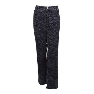 Charter Club Women's Animal Pattern Corduroy Pants - Deep Black