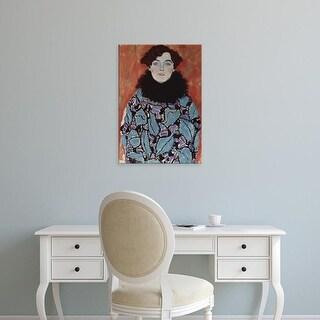 Easy Art Prints Gustav Klimt's 'Johanna Staude' Premium Canvas Art